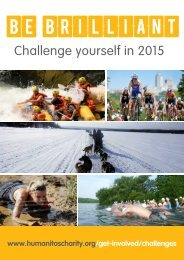 BE BRILLIANT IN 2015 - HUMANITAS CHALLENGES