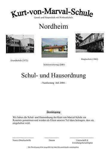 Haus- und Schulordnung - Kurt-von-Marval-Schule