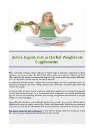 Active Ingredients in Herbal Weight-loss Supplements