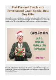 Feel Personal Touch with Personalized Grant Special Best Guy Gifts