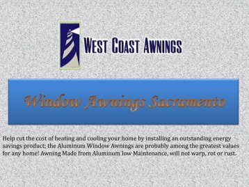 Window Awnings Sacramento