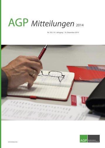 AGP Mitteilungen 2014