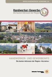 Handwerker- und Gewerbeinfo Surselva 2015/2016