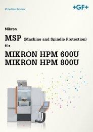 MSP MIKRON HPM 600U MIKRON HPM 800U