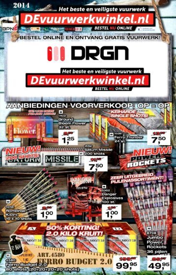 DEvuurwerkwinkel.nl folder 2014/2015