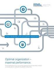 Optimal organization – maximal performance. (EN)