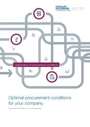 Optimal procurement conditions for your company. (EN)