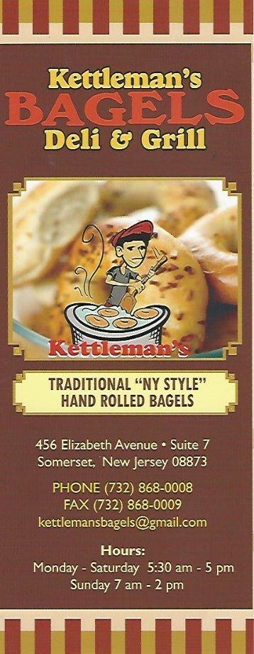 Kettleman's Bagels & Deli Menu