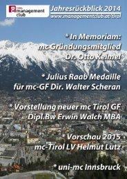 mc Tirol Jahresrückblick 2014