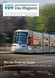 VDV Das Magazin Ausgabe Dezember 2014