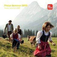 Preise Sommer 2015 - McTirol