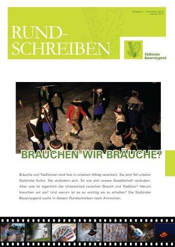 Rundschreiben der Südtiroler Bauernjugend Nr. 4 / 2014