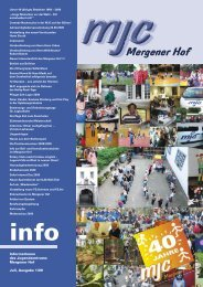 MJC-Info 2009 Ausgabe 1