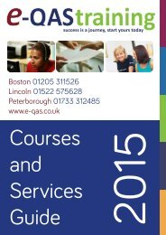 e-QAS Training Courses and Services Guide 2015