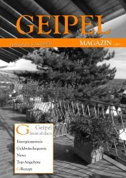 GEIPEL Magazin 01 - 2015