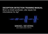 Deception Detection Training Manual