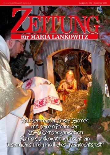 Ausgabe 142 - Maria Lankowitz wünscht ein besinnliches und friedliches Weihnachtsfest 2014