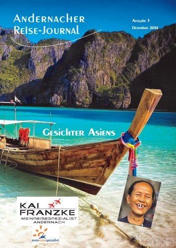 Andernacher Reise-Journal Gesichter Asiens