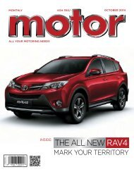 Monthly Motor - October 2014