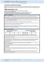LBBW Rohstoffe 2 LS R - LBBW Asset Management ...