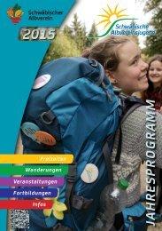 Jahresprogramm Albvereinsjugend 2015