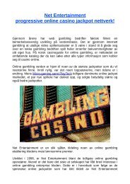 Net Entertainment progressive online casino jackpot nettverk!