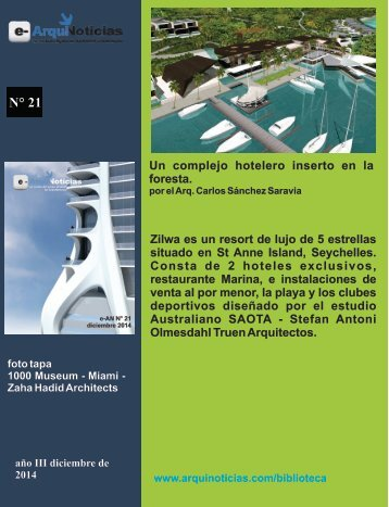 e-AN N° 21 nota N° 5 Un complejo hotelero inserto en la foresta
