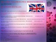 Fachwoerter-Uebersetzer fuer Automatiker / Deutsch-Englisch Elektrotechnik