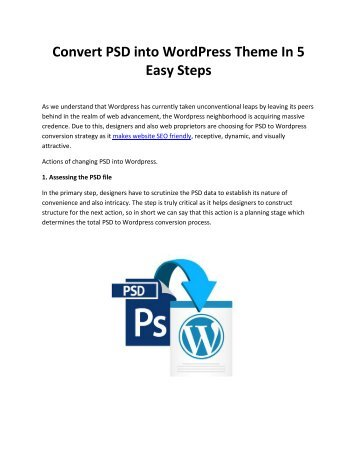 Convert PSD into WordPress Theme In 5 Easy Steps