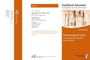 Ausschreibung Ehrenamtspreis 2013 - ehrenamt - evangelisch ...