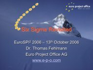 Six Sigma Revisited - Euro Project Office