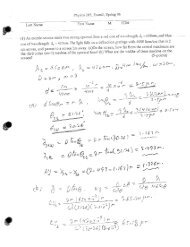 285 1 Exam 3 Handout Page