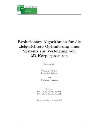 Evolutionäre Algorithmen für die zielgerichtete Optimierung pdfsubject