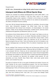 Intersport zieht Bilanz als Official Sports Shop