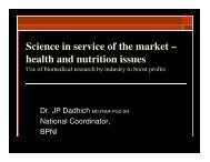 Science in service of the market – health and nutrition ... - IBFAN ASIA