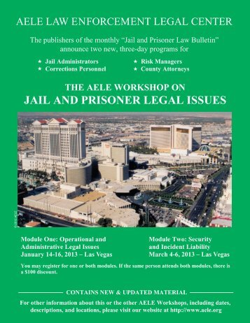 JAIL AND PRISONER LEGAL ISSUES - AELE's Home Page