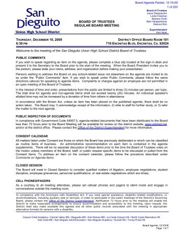 sduhsd strategic plan - San Dieguito Union High School District