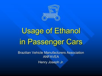 Usage of Ethanol in Passenger Cars