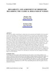 reliability and agreement of observers regarding the ... - Asbbs.org