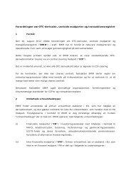 Forordningen om OTC-derivater, centrale modparter og ... - Plesner