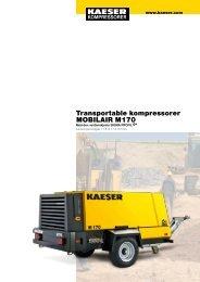 M 170 11.5–17.0 m³/min 405–600 cfm - KAESER Kompressorer