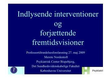Merete nordentofts professortiltrædelsesforelæsning 27. maj ... - OPUS