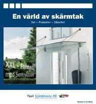 En värld av skärmtak - Pauli Scandinavia AB