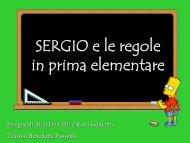 SERGIO e le regole in prima elementare - USP di Piacenza