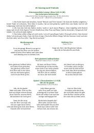 20. Sonntag nach Trinitatis - Gottesdiensttexte gereimt