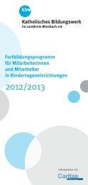 Fortbildungsprogramm für Mitarbeiterinnen und Mitarbeiter in ...