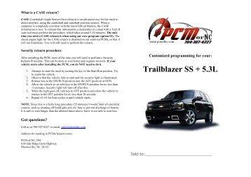 manual trailblazer ss