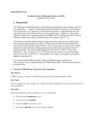 GSBS Strategic Plan - The Graduate School of Biomedical Sciences