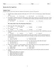 Chapter 5 &6 Review Packet - Westminster Home