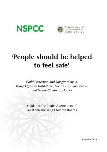 Child Protection and Safeguarding in Custody